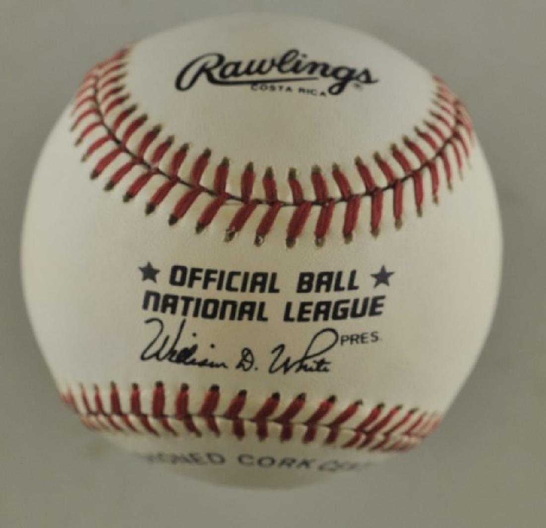 Signed Hank Aaron Baseball - 2