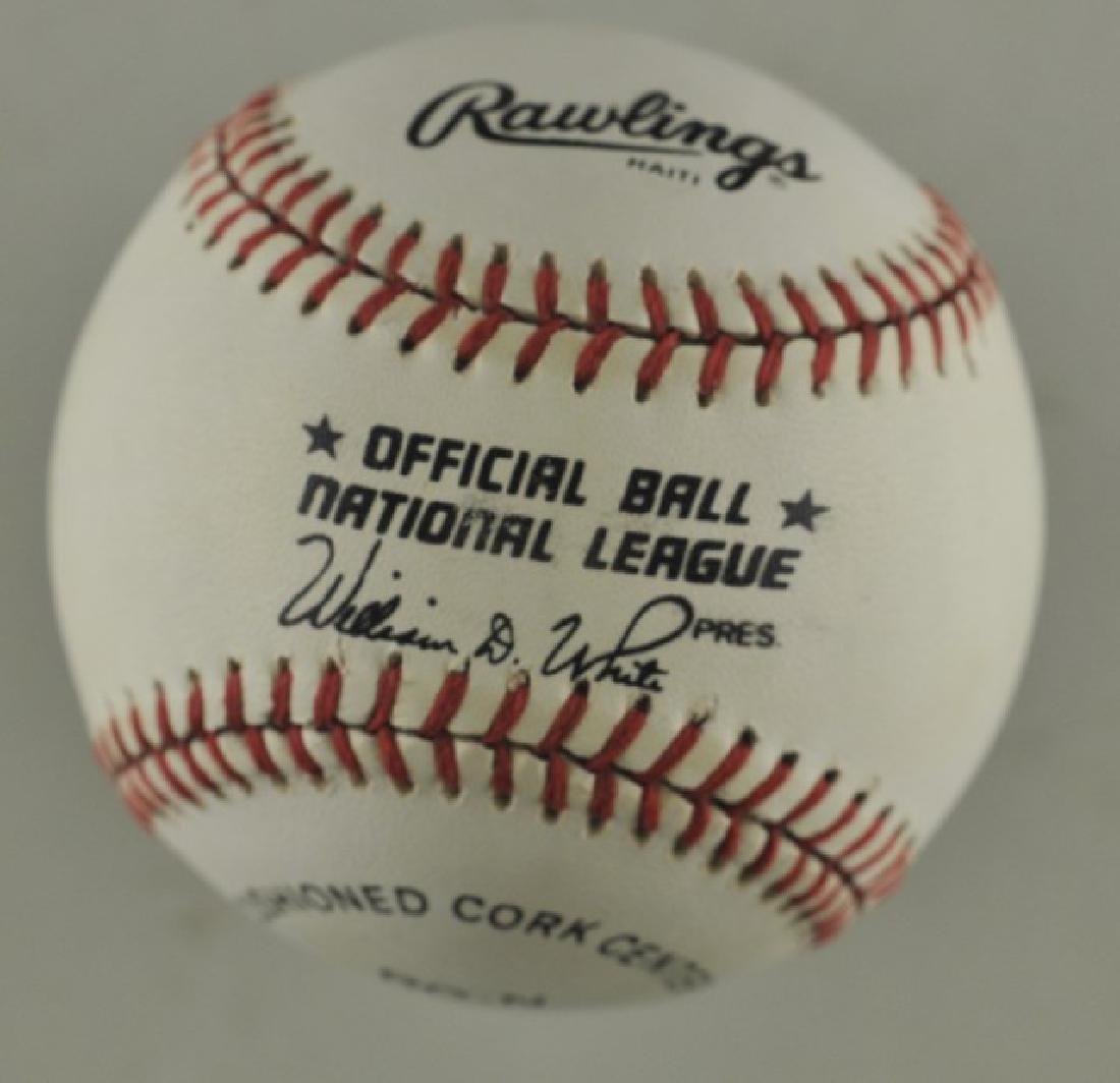 Signed Sandy Alomar Baseball - 2