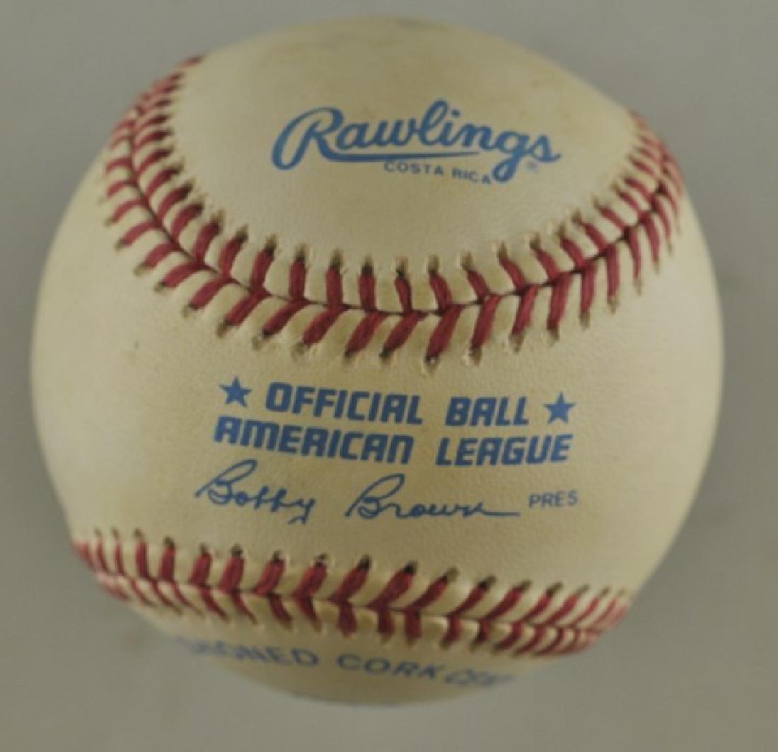 Signed Wade Boggs Baseball - 2