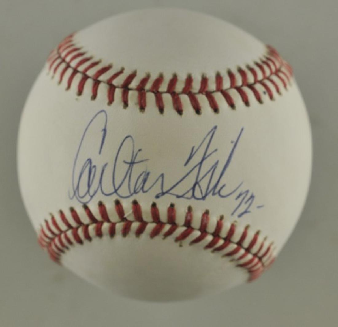 Signed Carlton Fisk Baseball