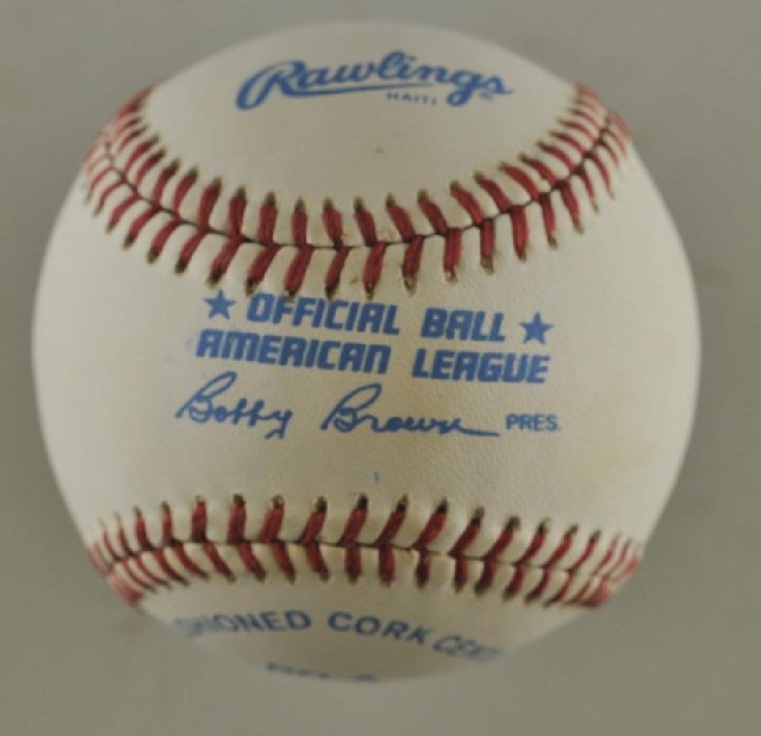 Signed Carlton Fisk Baseball - 2
