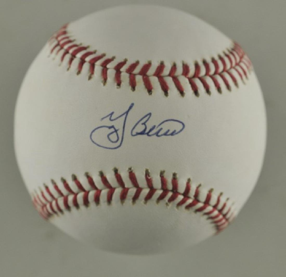 Signed Yogi Berra Baseball