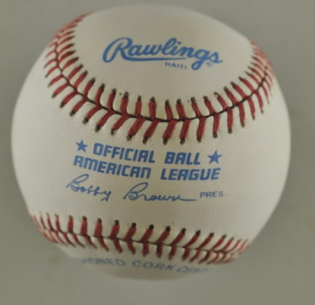 Signed Ricky Henderson Baseball - 2