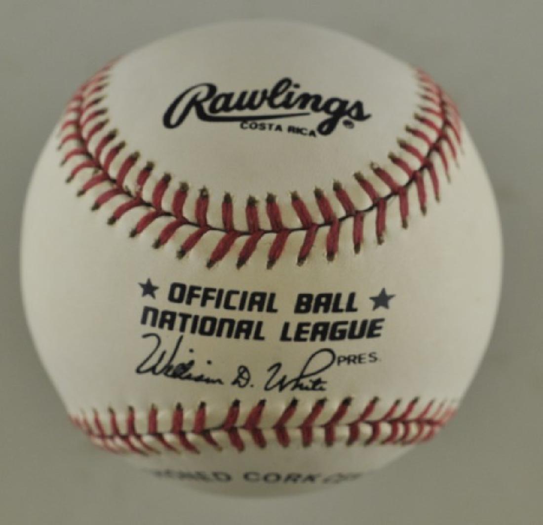 Signed Darryl Strawberry Baseball - 2