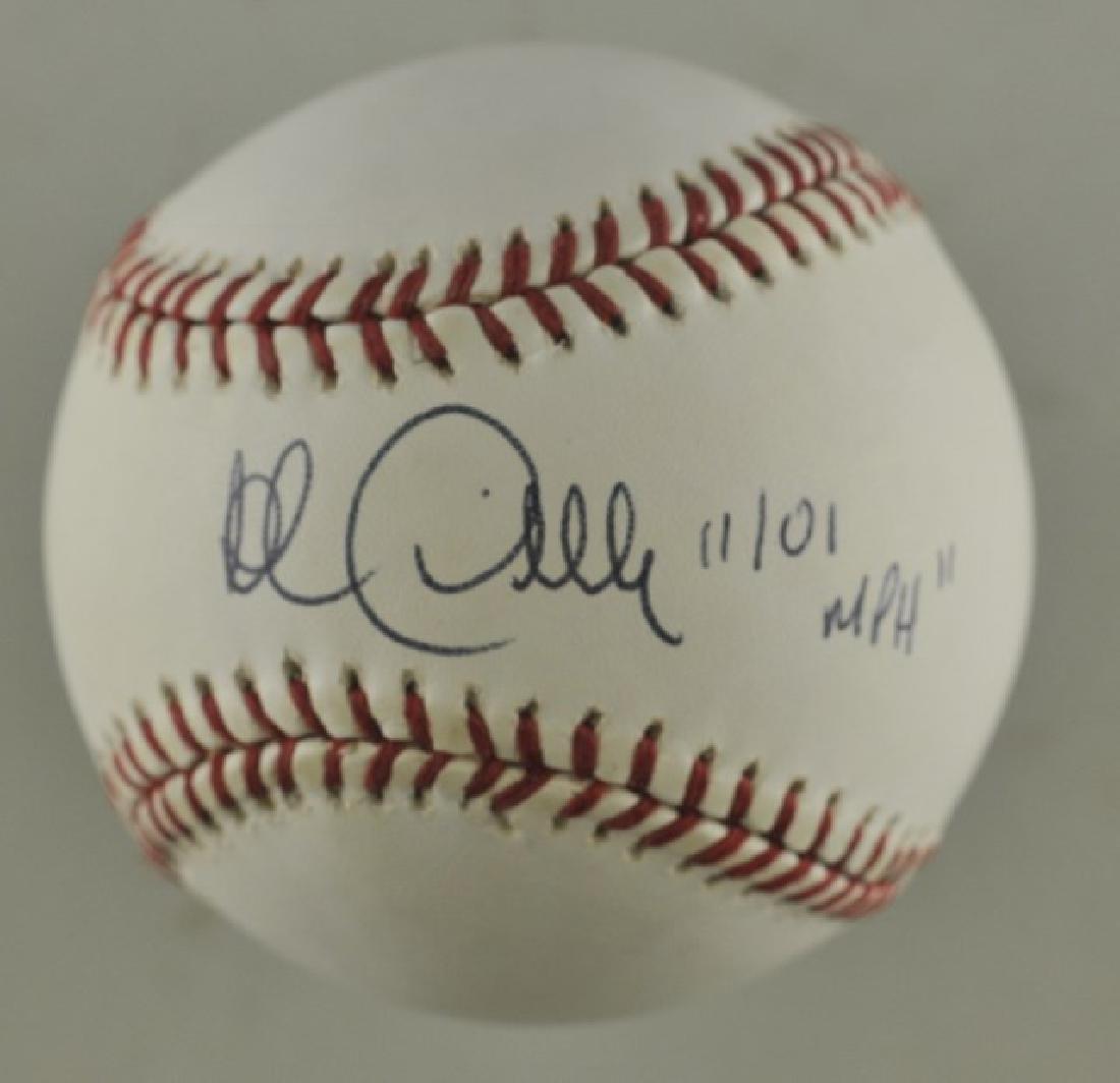 Signed Rob Dibble Baseball