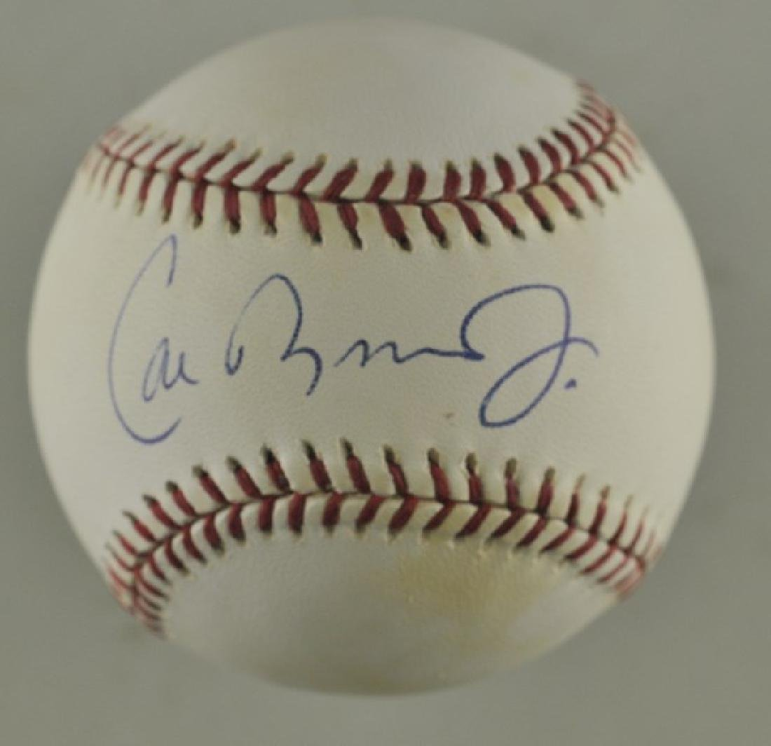 Signed Cal Ripken Jr. Baseball