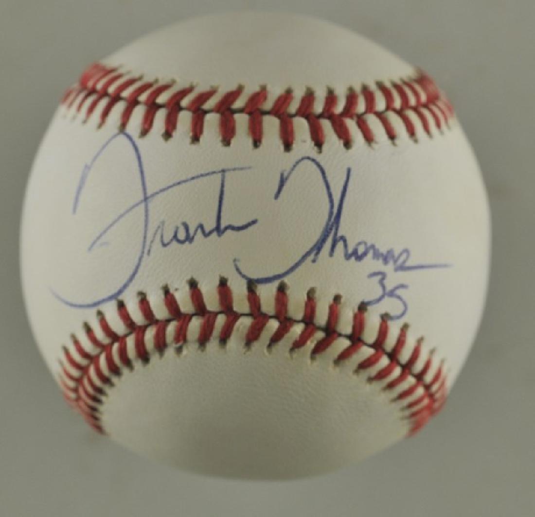 Signed Frank Thomas Baseball