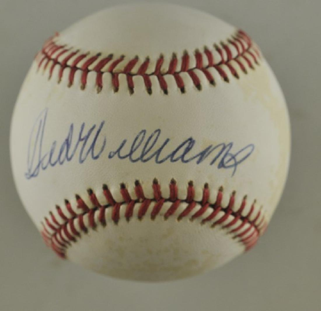 Signed Ted Williams Baseball