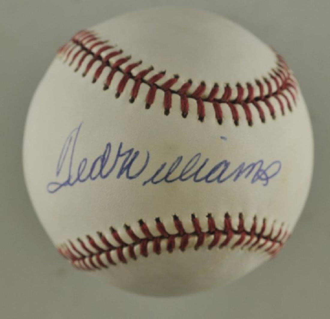 Signed Ted Williams Baseball