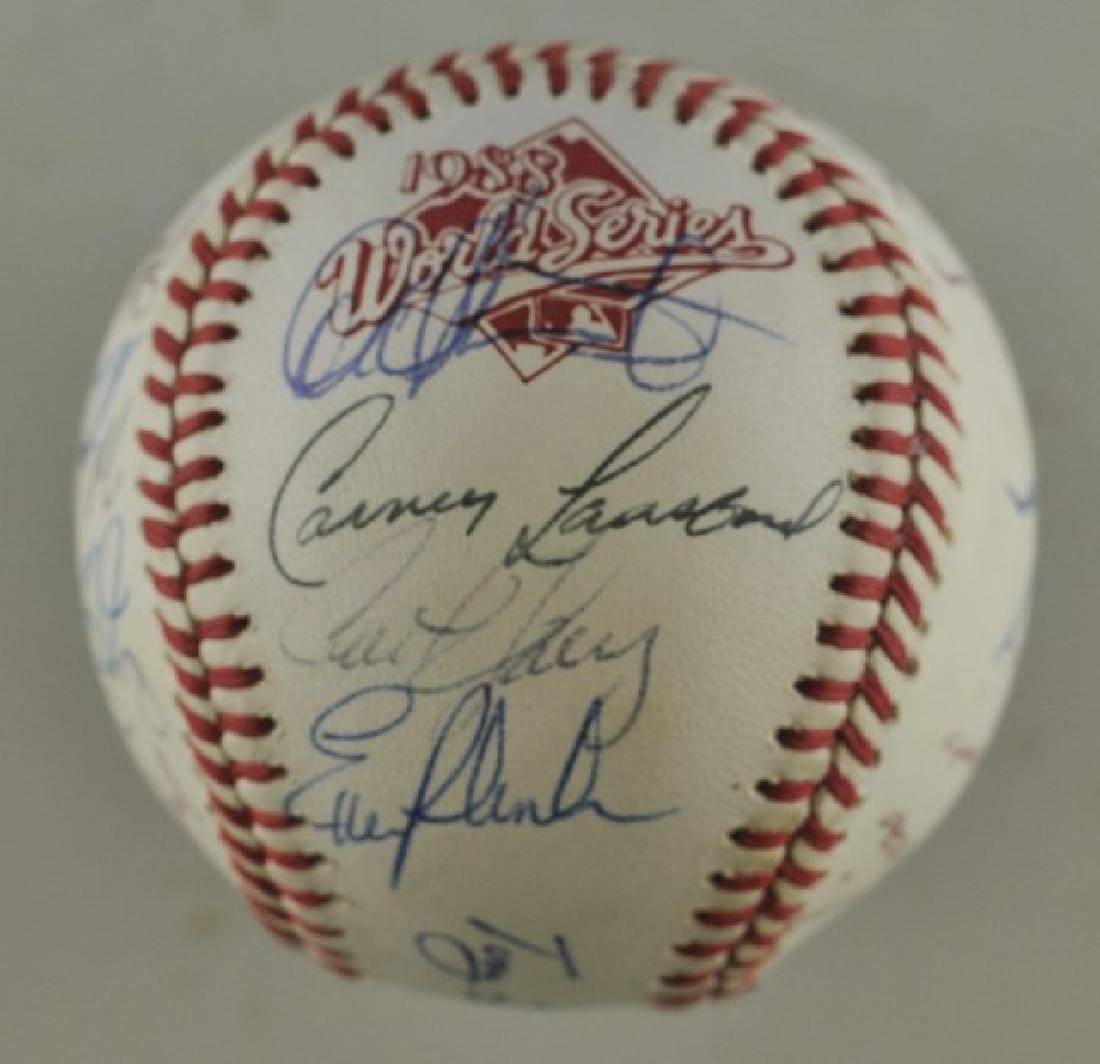 '88 A's World Series Signed Baseball