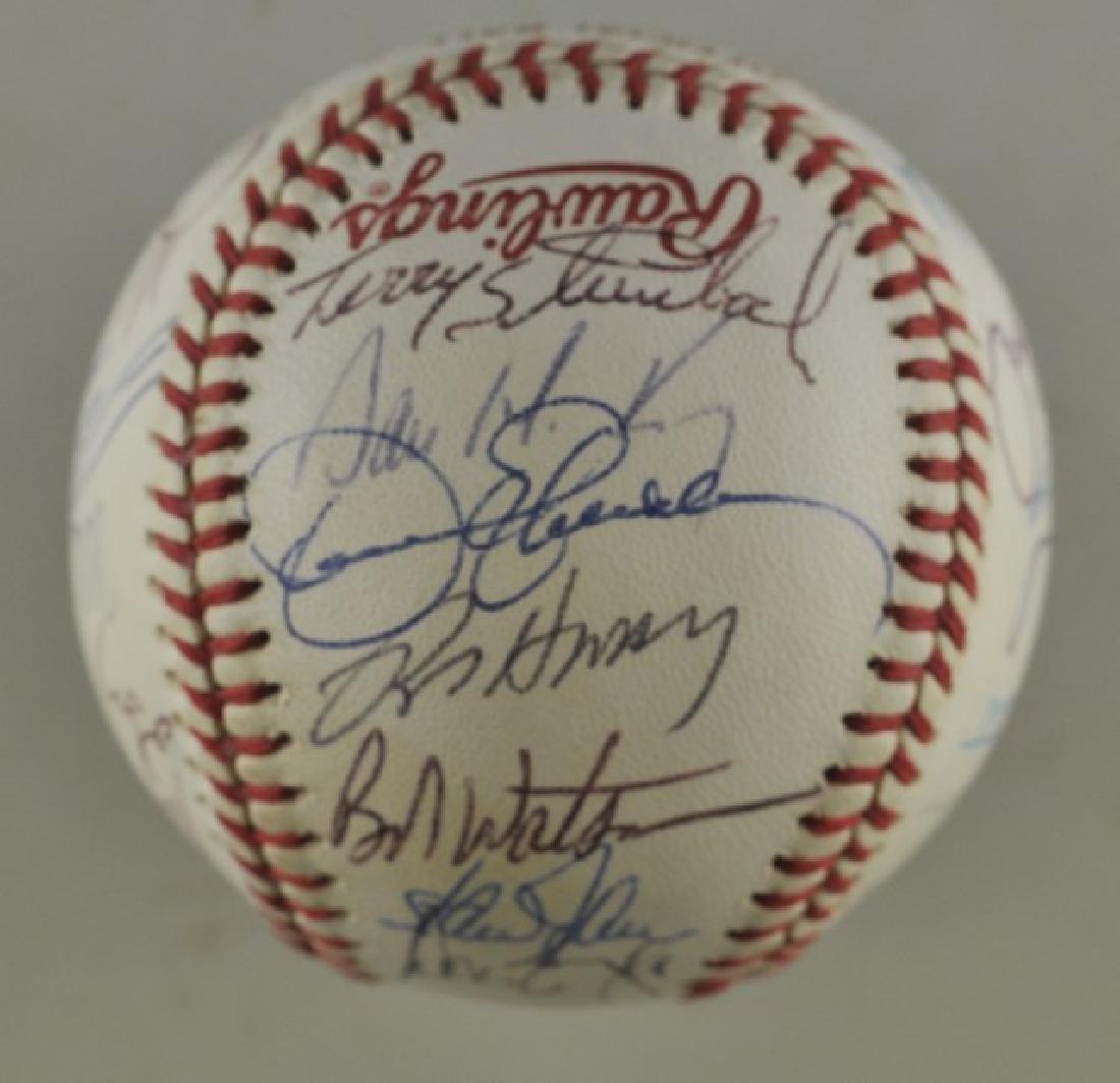 '88 A's World Series Signed Baseball - 2