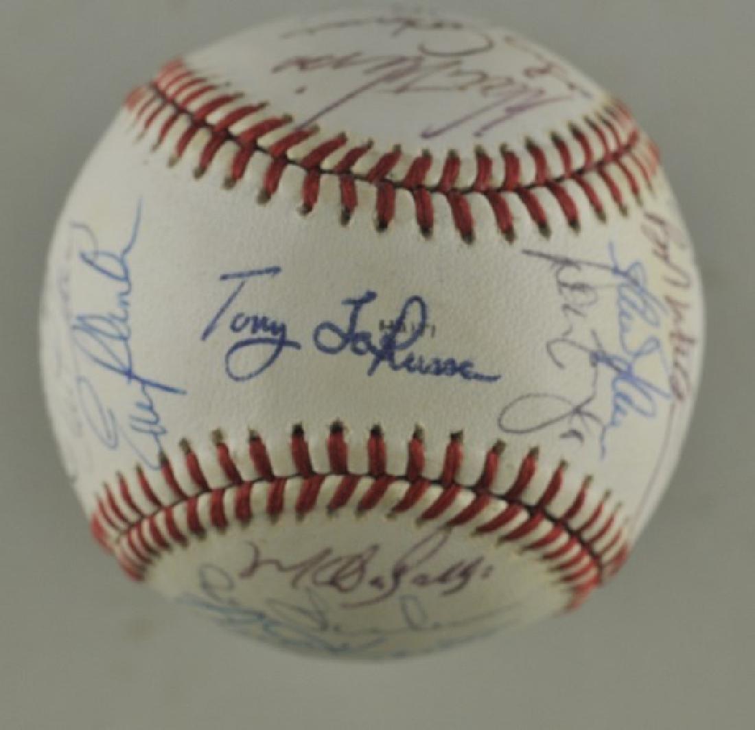'88 A's World Series Signed Baseball - 3