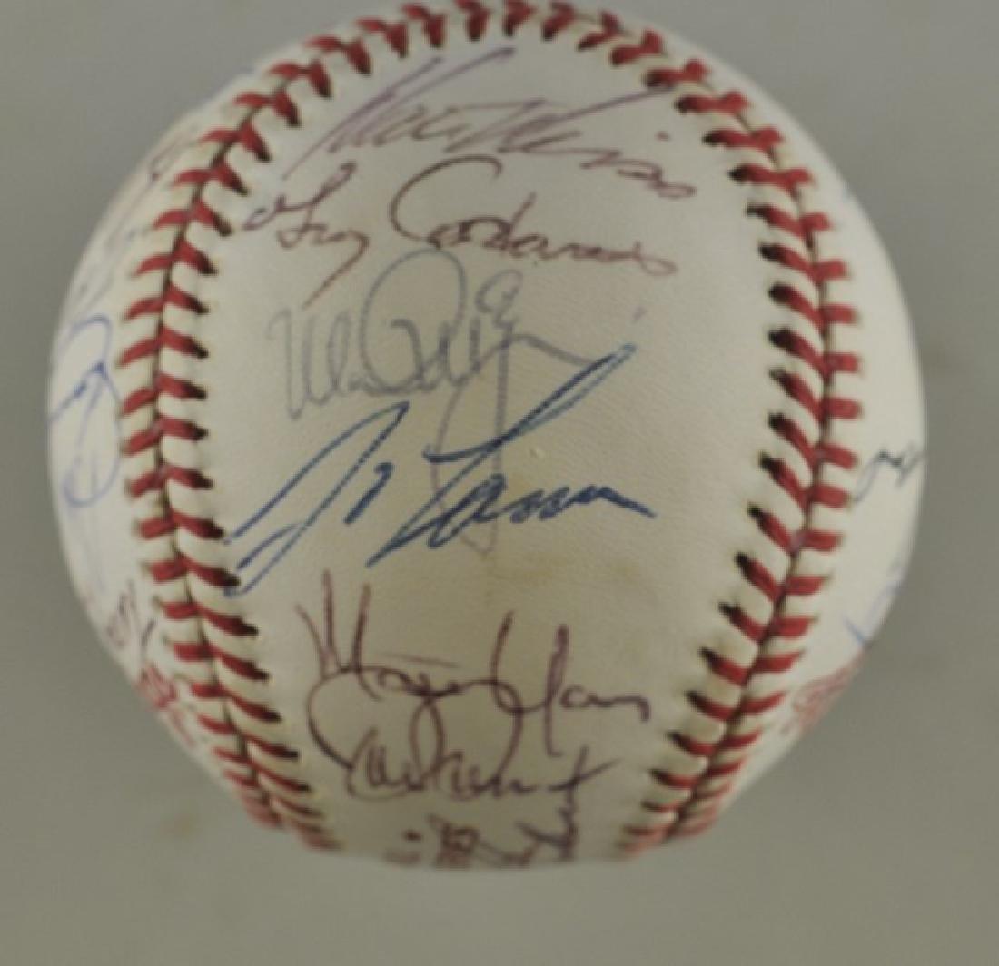 '88 A's World Series Signed Baseball - 4