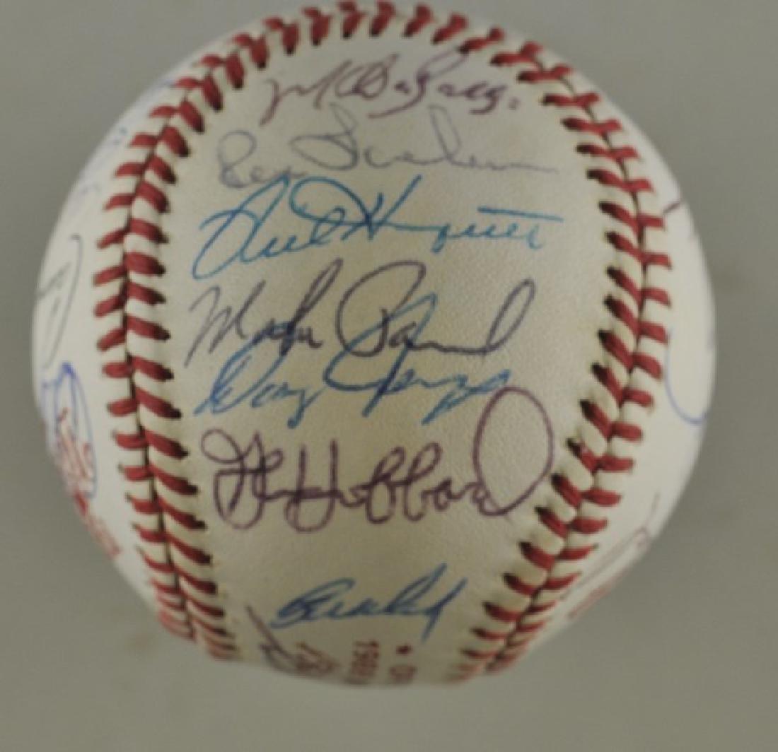 '88 A's World Series Signed Baseball - 5