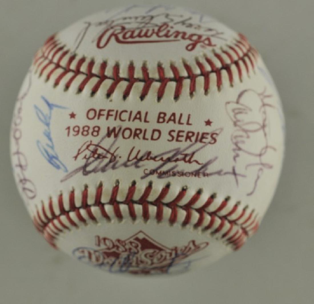 '88 A's World Series Signed Baseball - 6