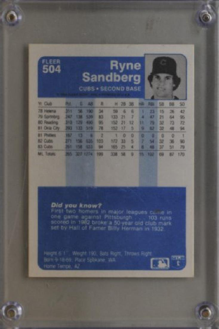 Signed Ryne Sandberg Baseball Card - 2
