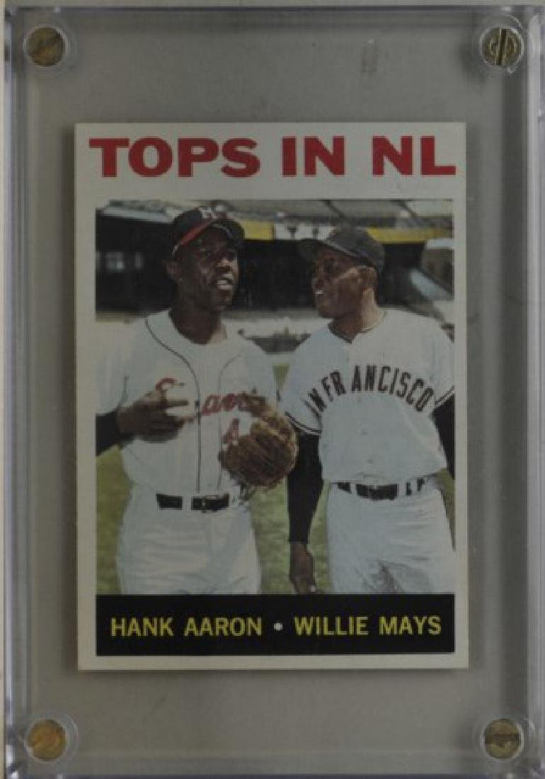 1964 Hank Aaron & Willie Mays Topps Baseball Card