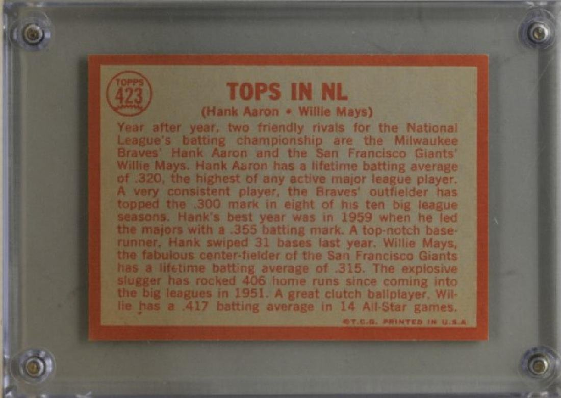 1964 Hank Aaron & Willie Mays Topps Baseball Card - 2