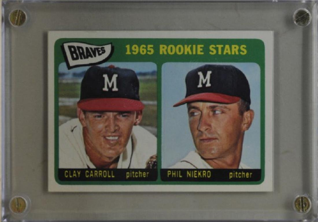 Clay Carroll & Phil Niekro Topps Baseball Card
