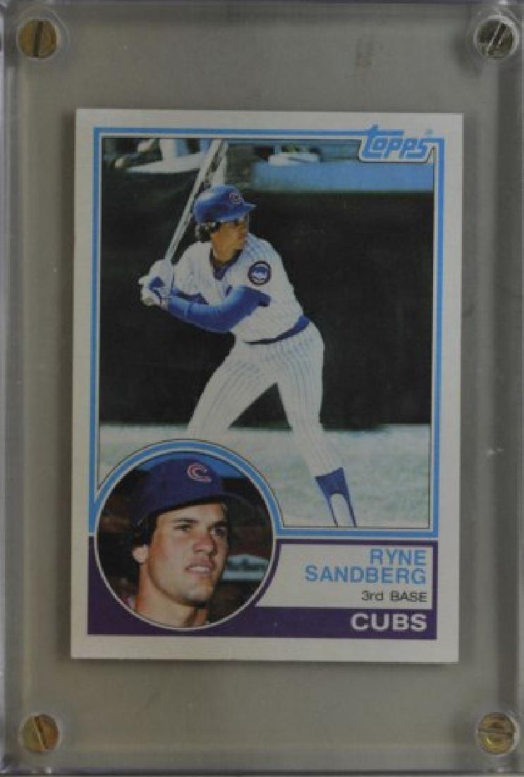 1983 Ryne Sandberg Topps Baseball Card