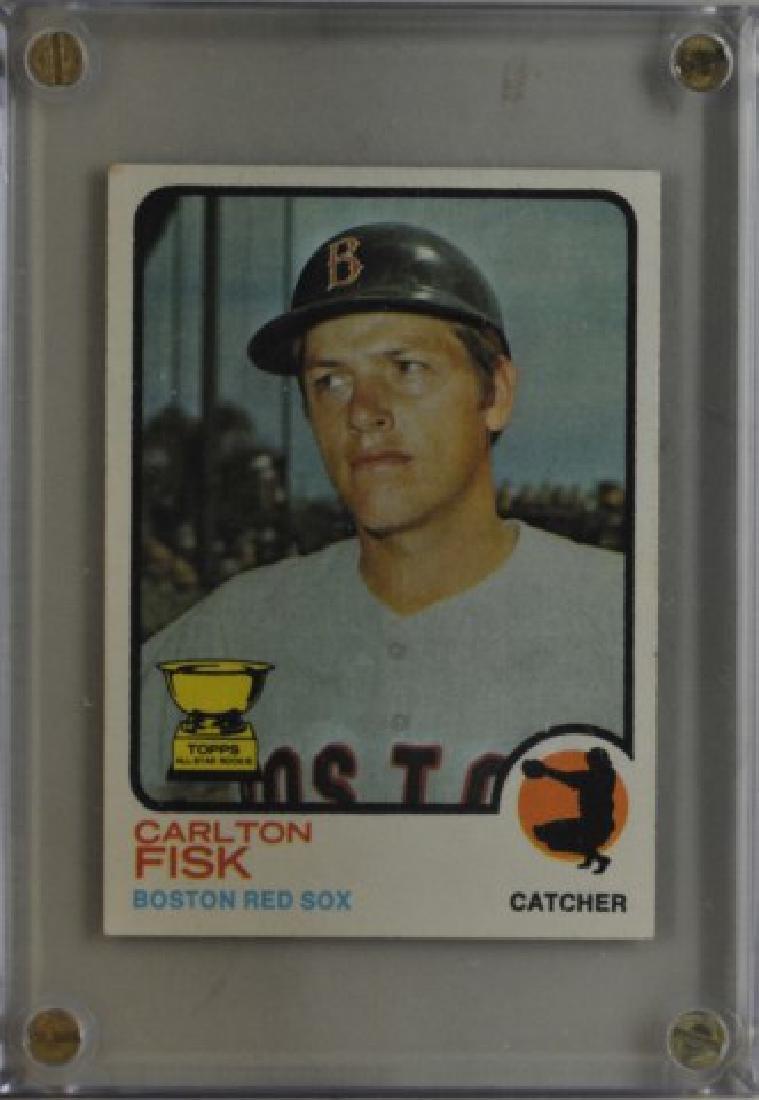 1973 Carlton Fisk Topps Baseball Card