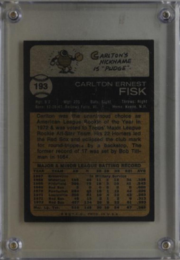 1973 Carlton Fisk Topps Baseball Card - 2