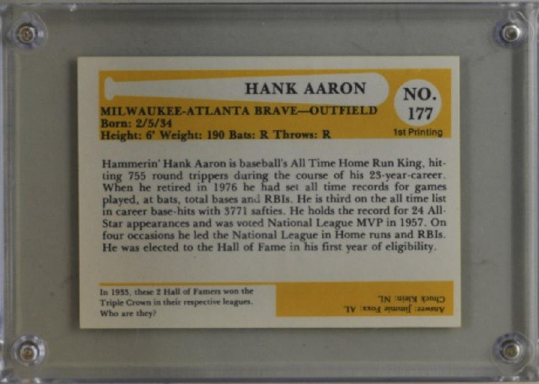 Signed Hank Aaron Baseball Immortals Card - 2
