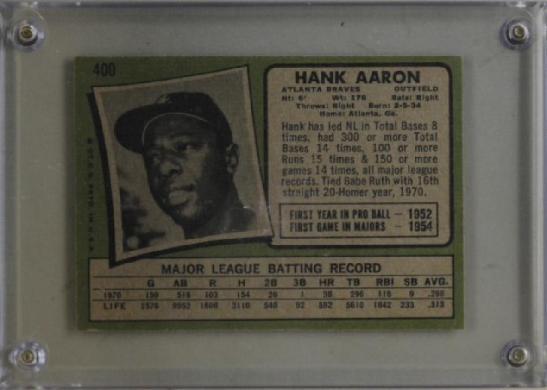 1971 Hank Aaron Topps Baseball Card - 2