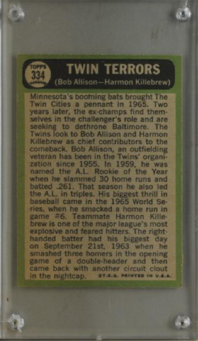 Bob Allison & Harmon Killebrew Topps Baseball Card - 2