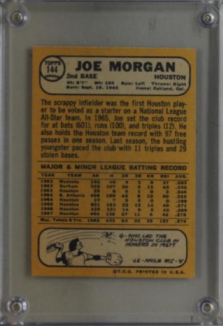 1968 Joe Morgan Topps Baseball Card - 2