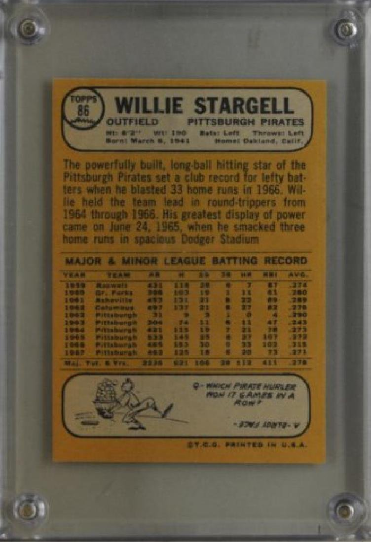 1968 Willie Stargell Topps Baseball Card - 2