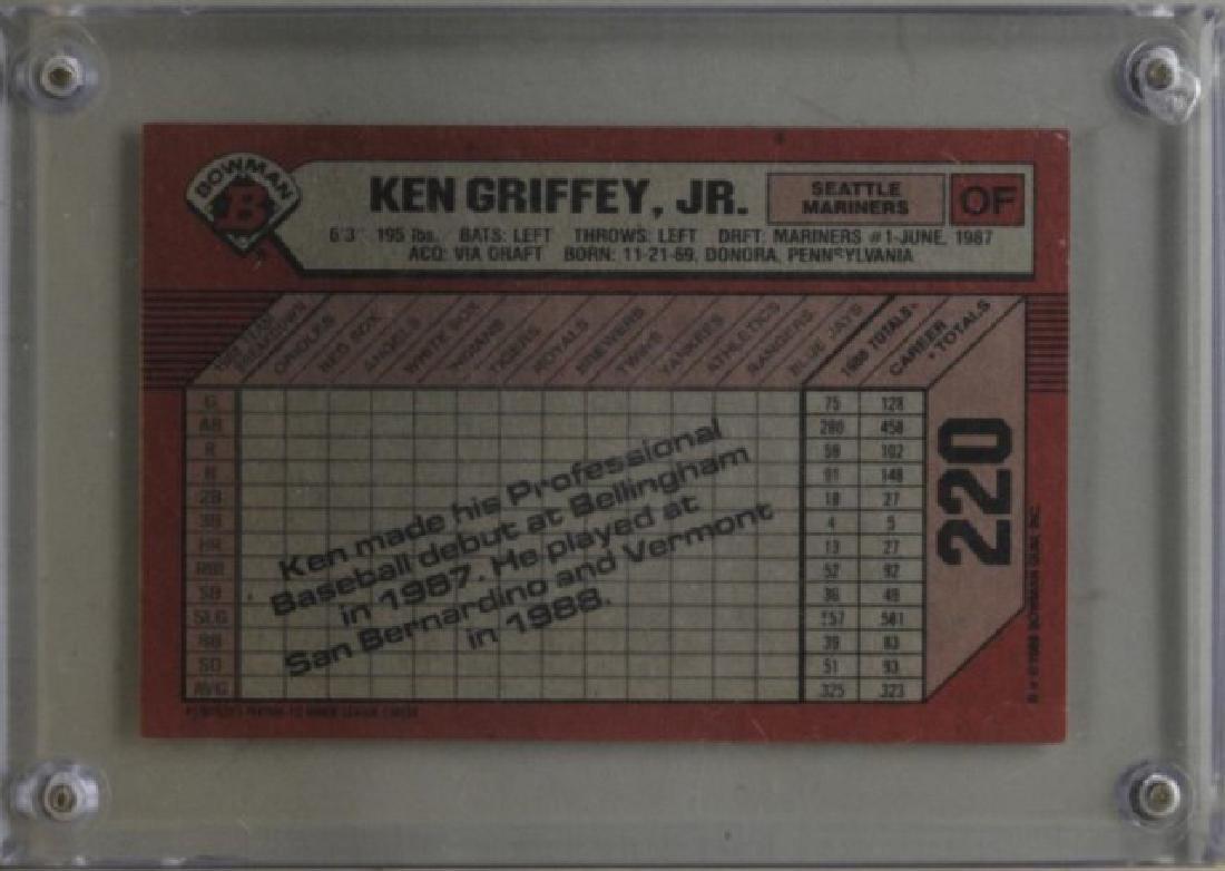 1989 Ken Griffey Jr. Bowman Baseball Card - 2