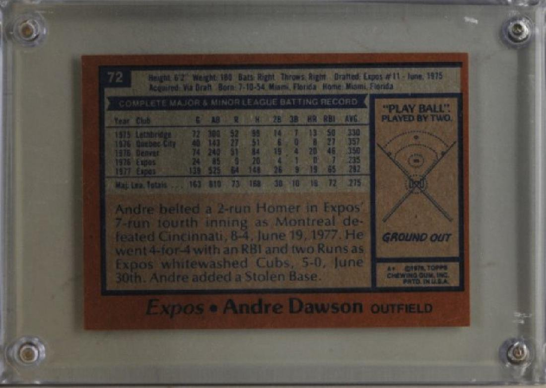 1978 Andre Dawson Topps Baseball Card - 2