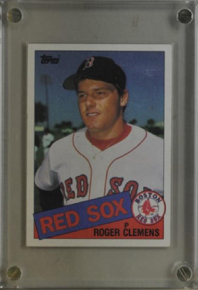 1985 Roger Clemens Topps Baseball Card