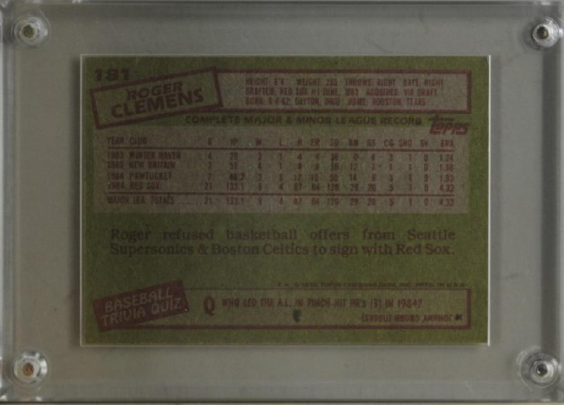 1985 Roger Clemens Topps Baseball Card - 2