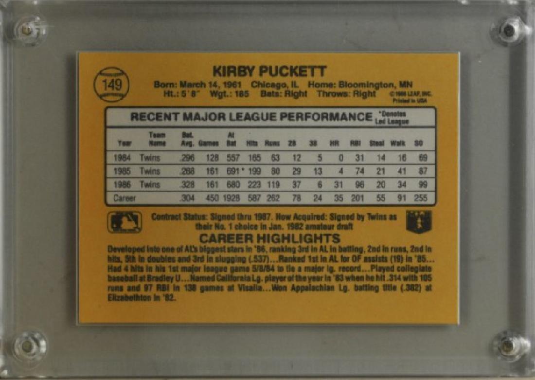 1987 Kirby Puckett Donruss Baseball Card - 2