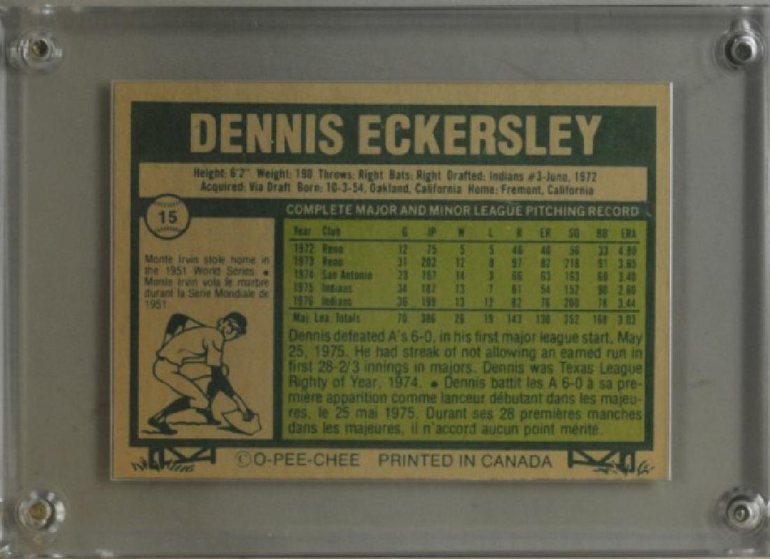 1977 Dennis Eckersley O-Pee-Chee Baseball Card - 2