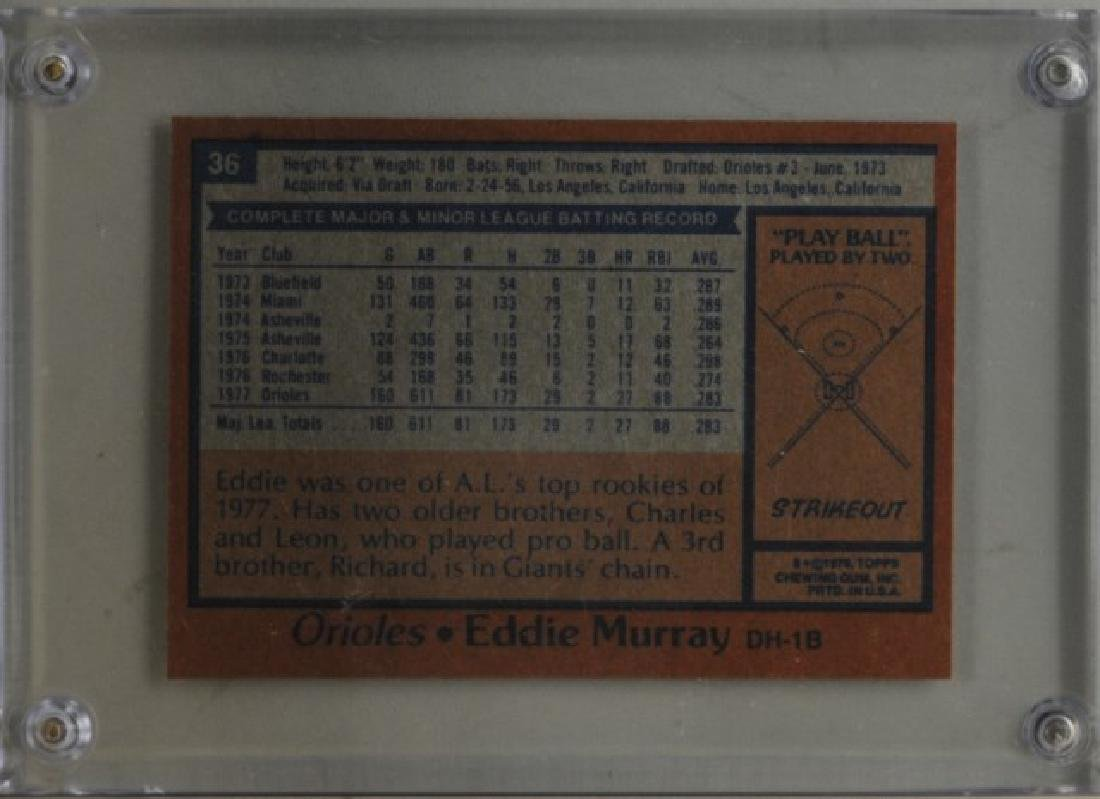 1978 Eddie Murray Topps Baseball Card - 2