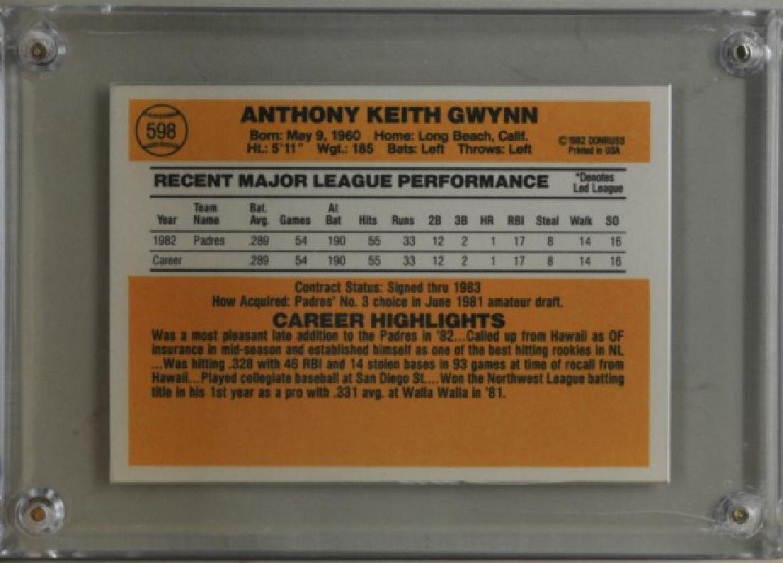 1983 Tony Gwynn Donruss Baseball Card - 2