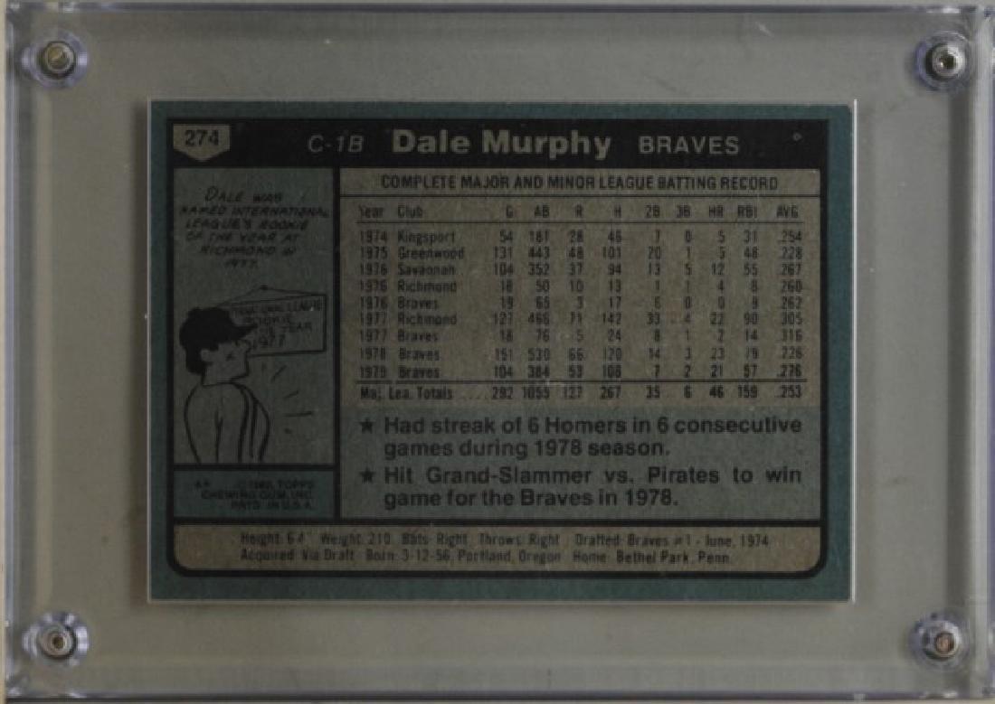 1980 Dale Murphy Topps Baseball Card - 2