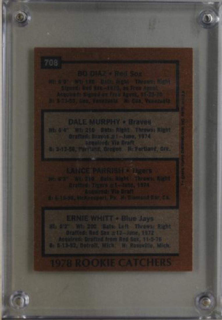 Diaz, Murphy, Parrish, Whitt Tops Baseball Card - 2
