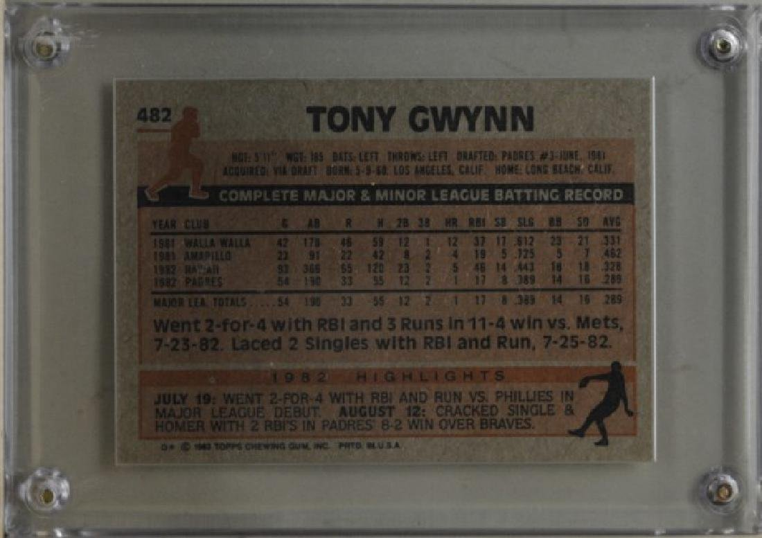 1983 Tony Gwynn Topps Baseball Card - 2
