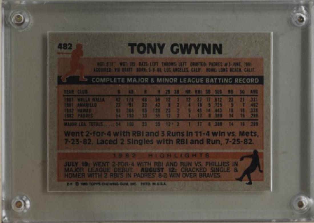 1983 Tony Gwynn Topps Baseball Card - 2