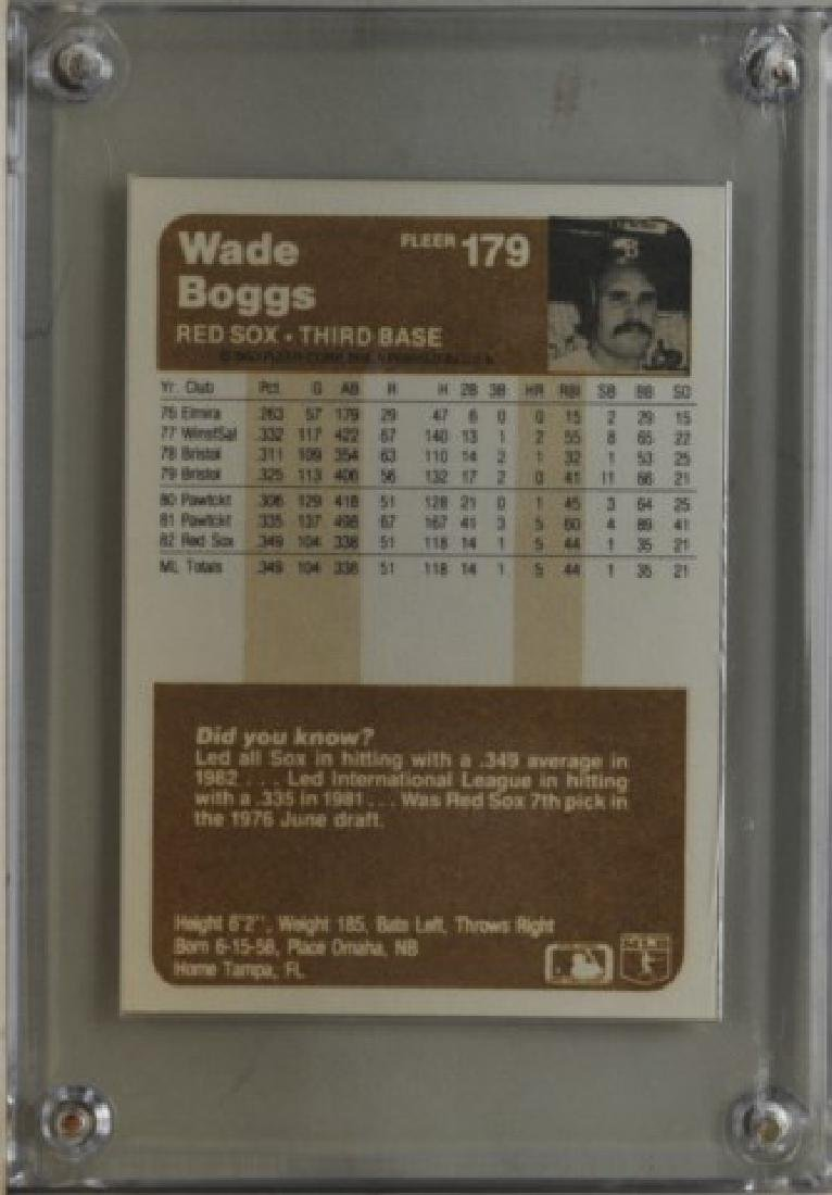1983 Wade Boggs Fleer Baseball Card - 2