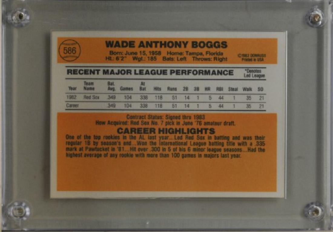 1983 Wade Boggs Donruss Baseball Card - 2