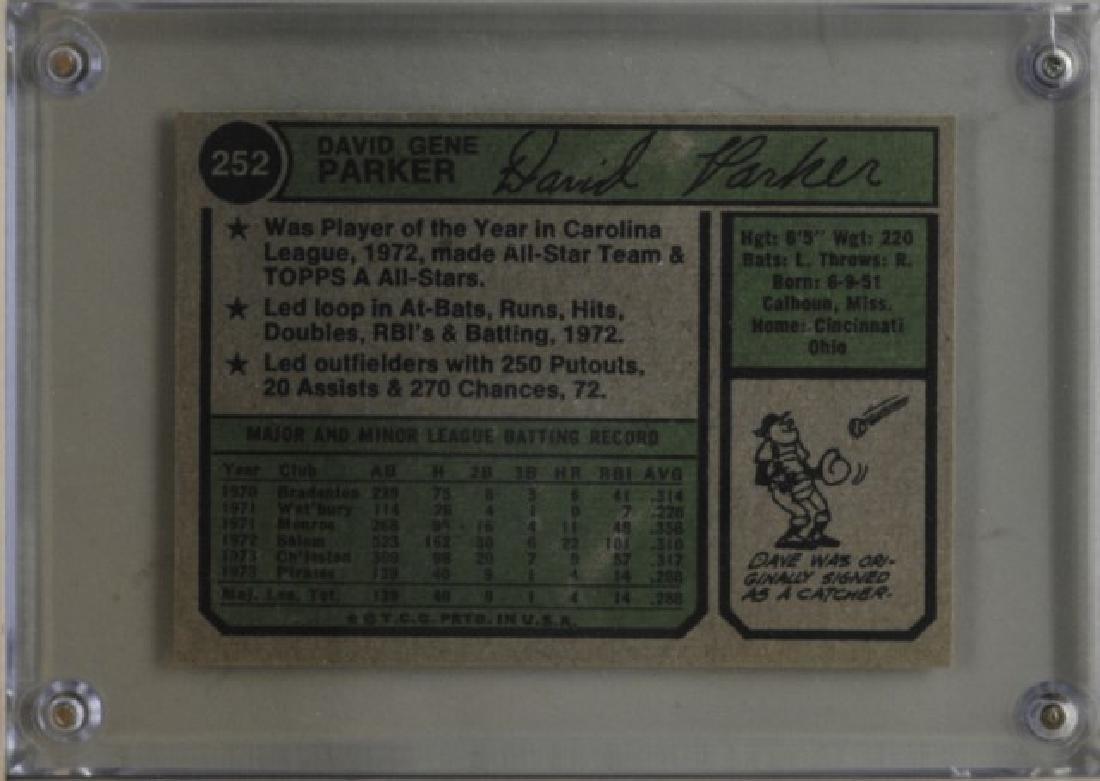 1974 Dave Parker Topps Baseball Card - 2