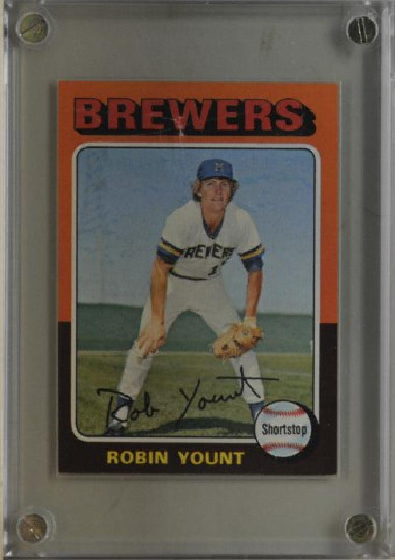1975 Robin Yount Topps Baseball Card