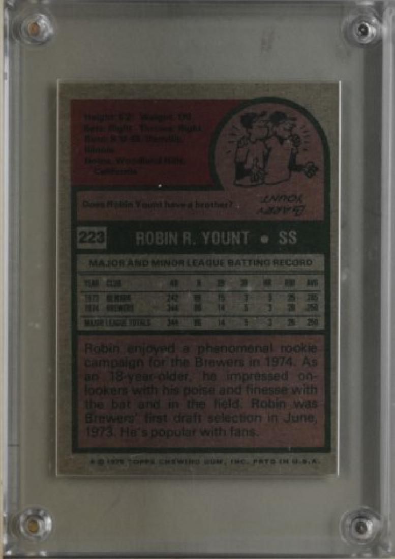 1975 Robin Yount Topps Baseball Card - 2