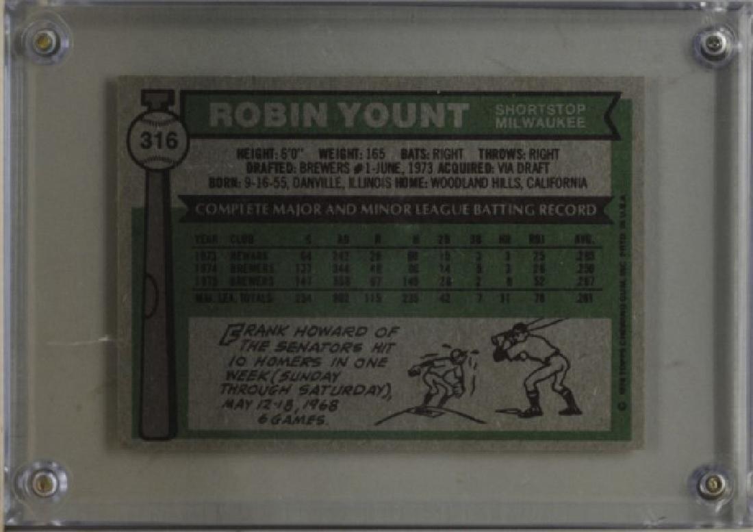 1976 Robin Yount Topps Baseball Card - 2