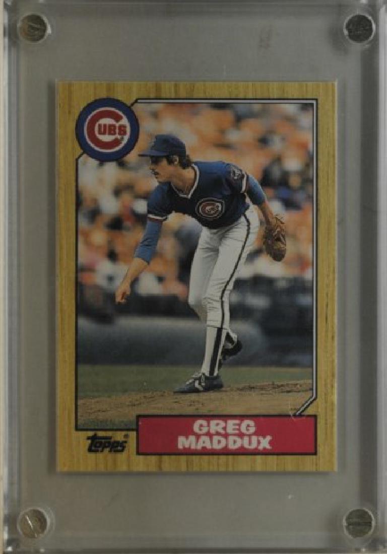 1987 Greg Maddux Topps Baseball Card